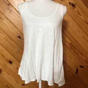 Anthropologie Pure + Good Heathered White Tank Top